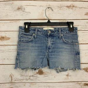Paper Denim & Cloth Cutoff Denim Shorts